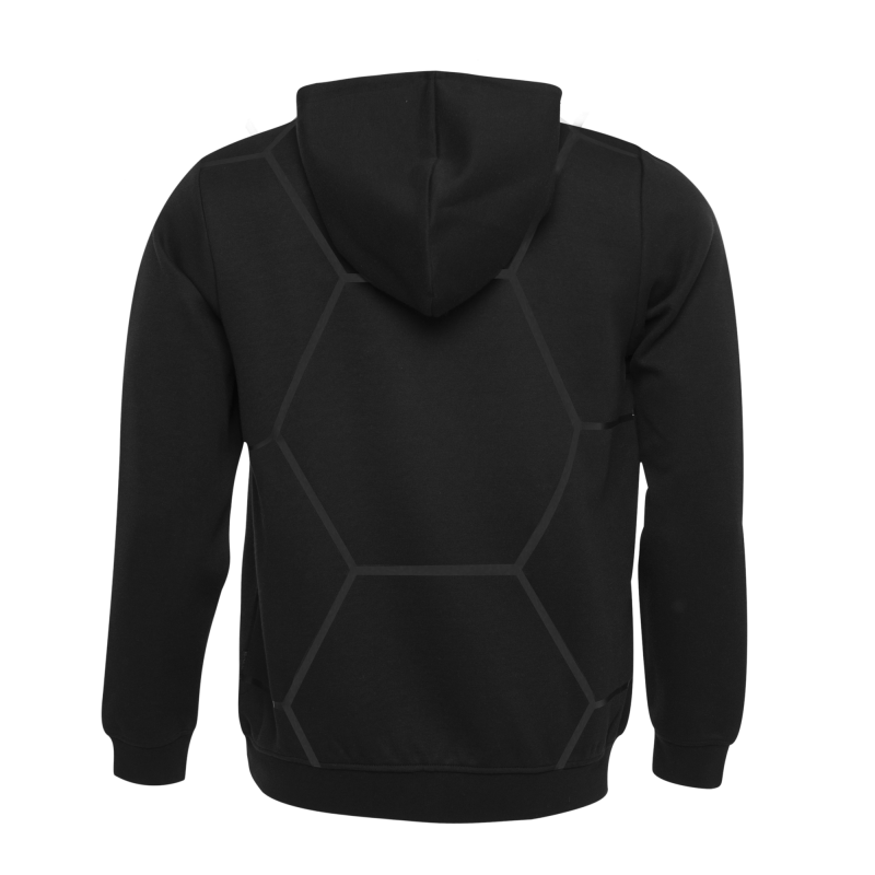BALR. Black on Black All-Over Hoodie Black