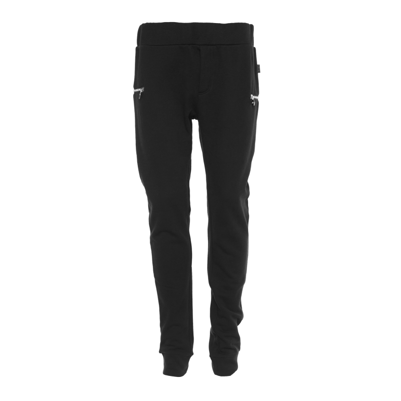 Front Zip Sweatpants Black