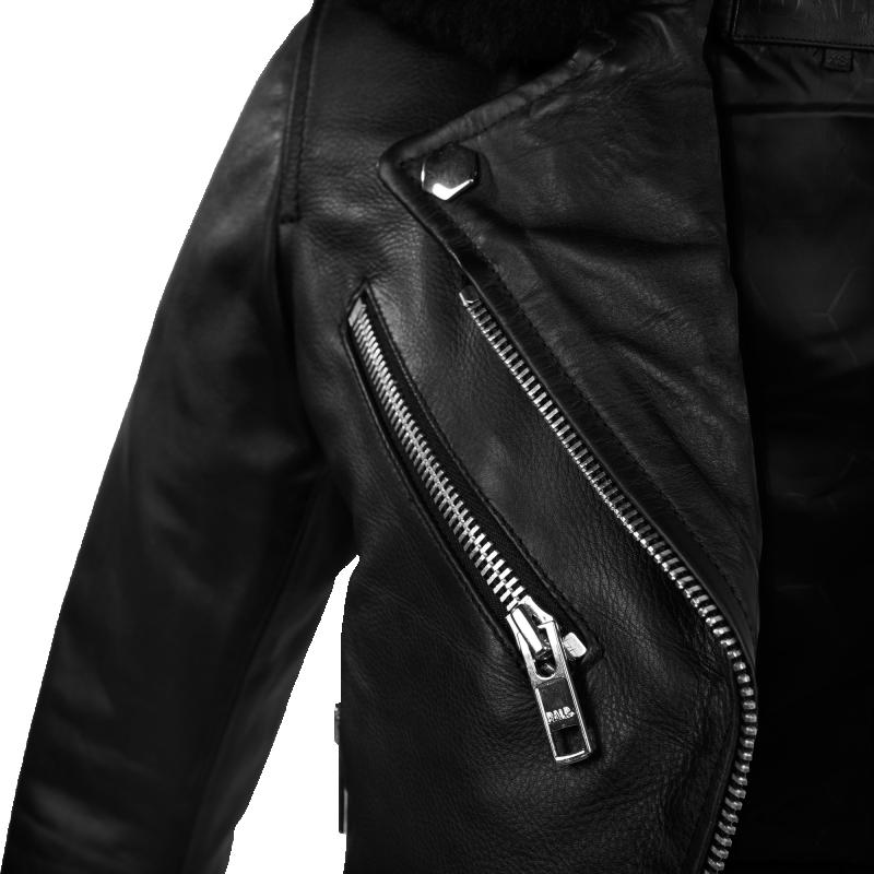 Leather Biker Jacket Detail