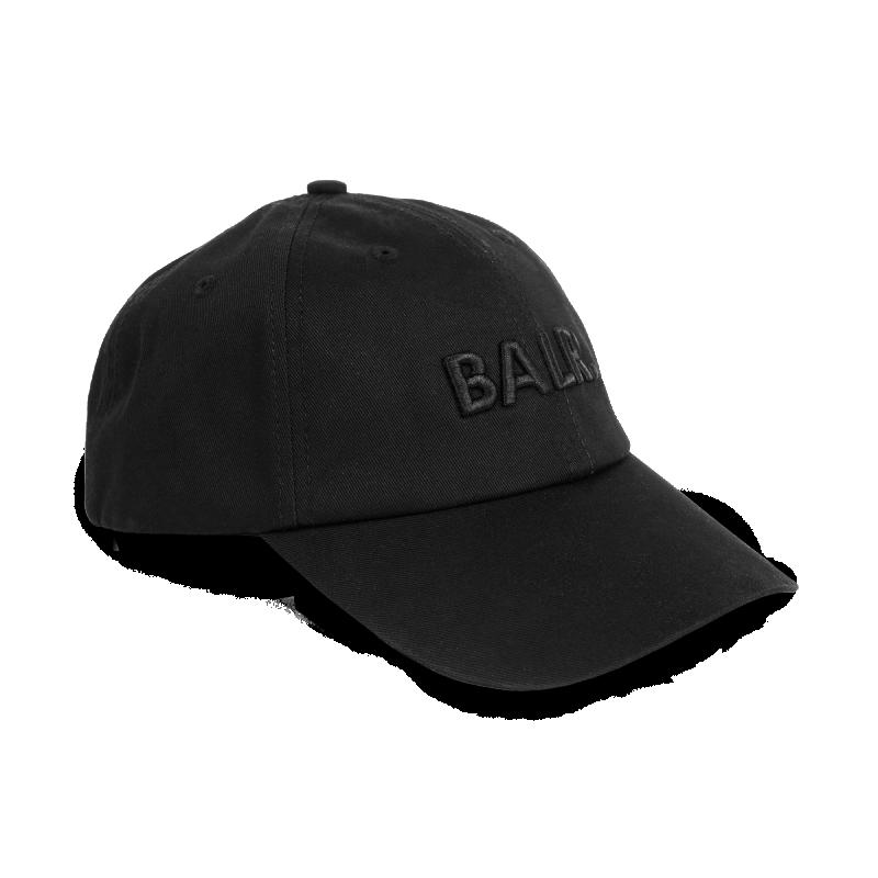 Women Classic Cotton Cap Black On Black Side