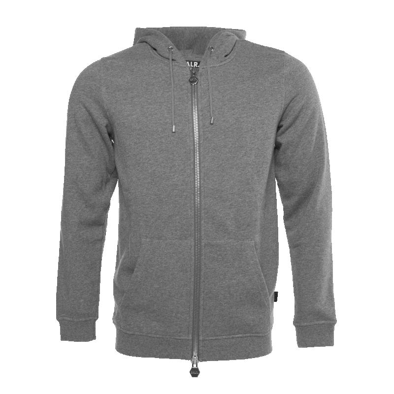 Zipped Kangaroo Hoodie Grey