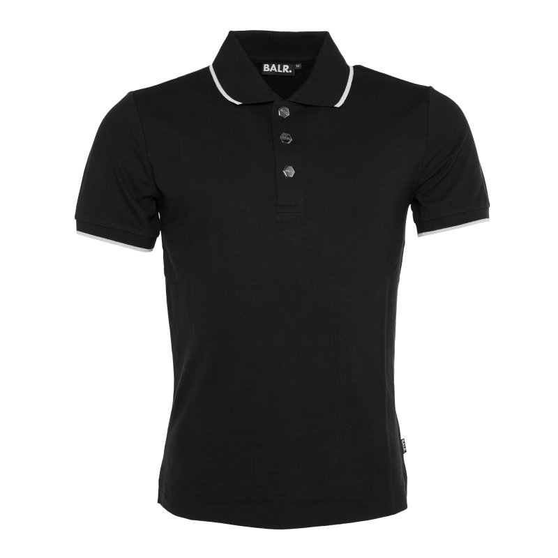 Press Stud Polo Black