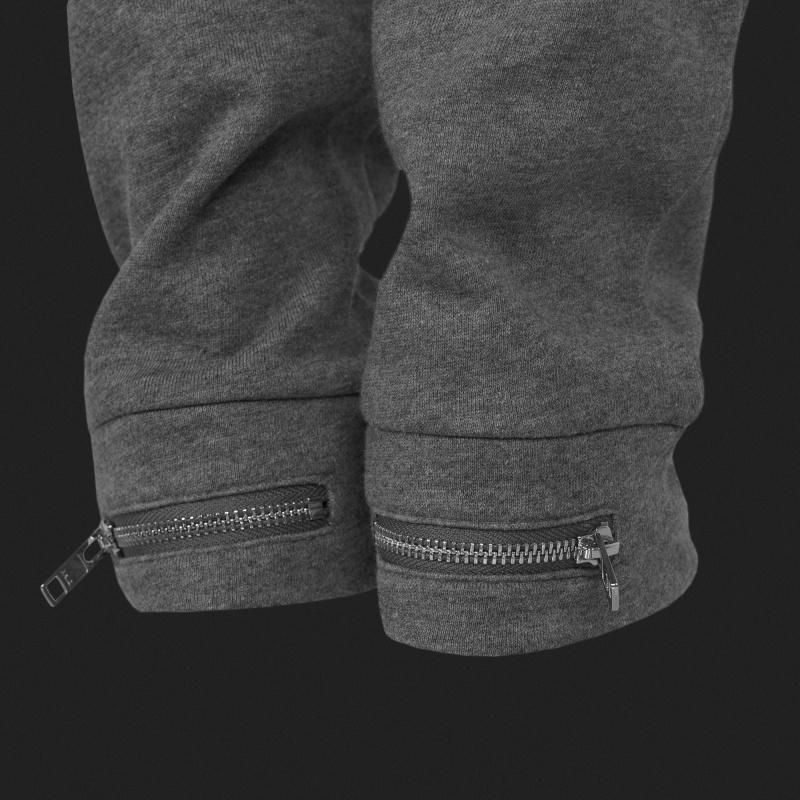 Grey Zipped Sweatpants Women Zipper