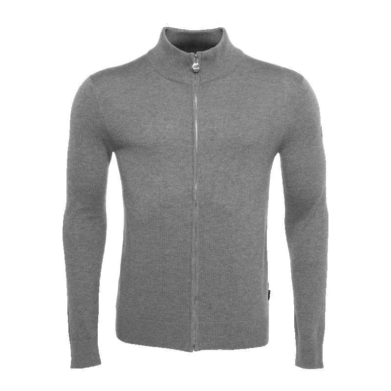 BALR. Full-Zip Knitted Cardigan Grey - Grey