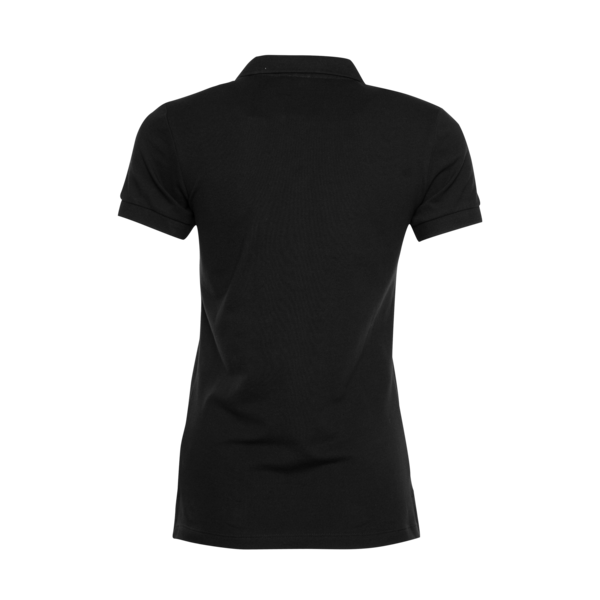 Brand Polo Shirt Women Black Back