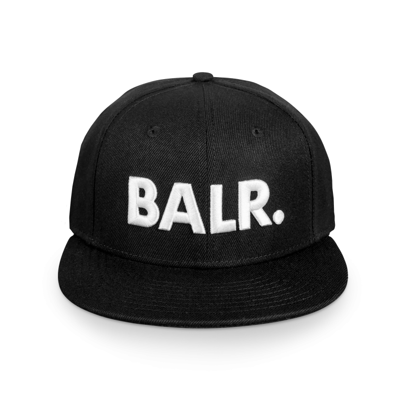 Brand Cotton Cap Black Front
