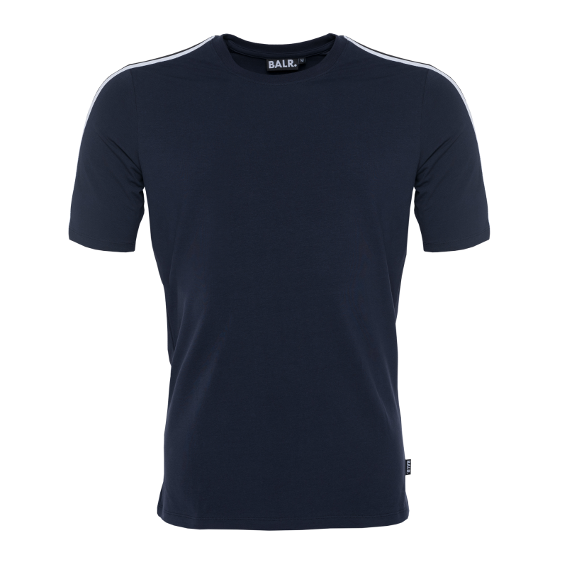 Webbing-Trimmed T-Shirt Navy