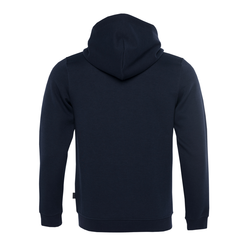 BALR. Q-series Zipped Hoodie Navy Back