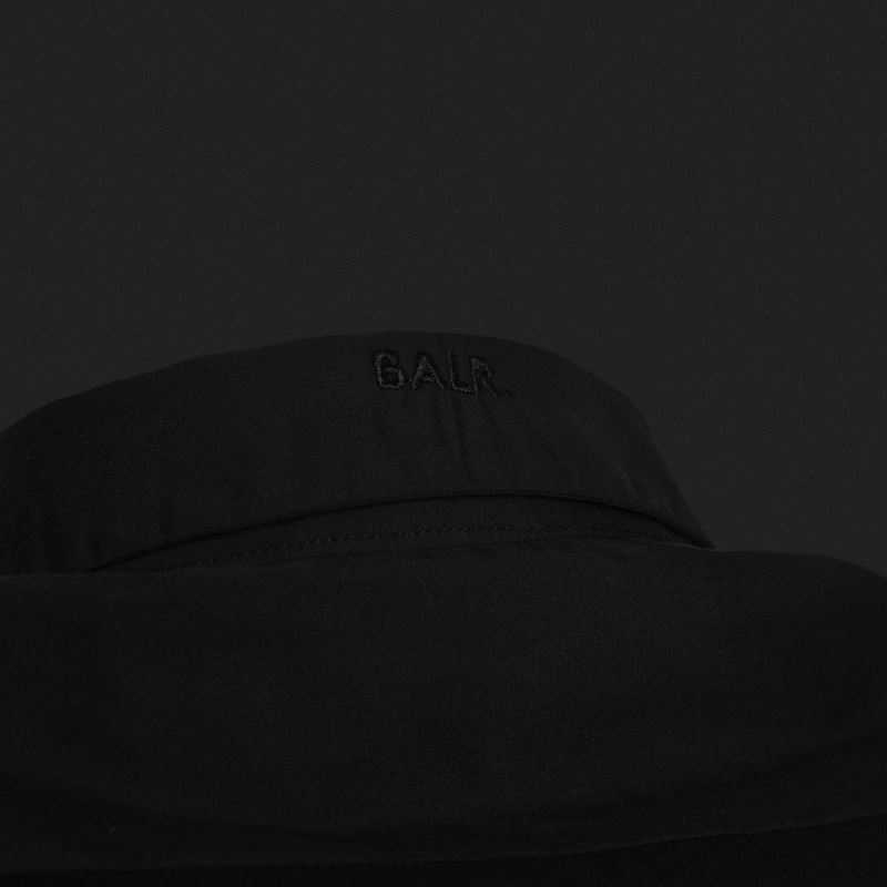Black Slim-Fit Formal Shirt Detail