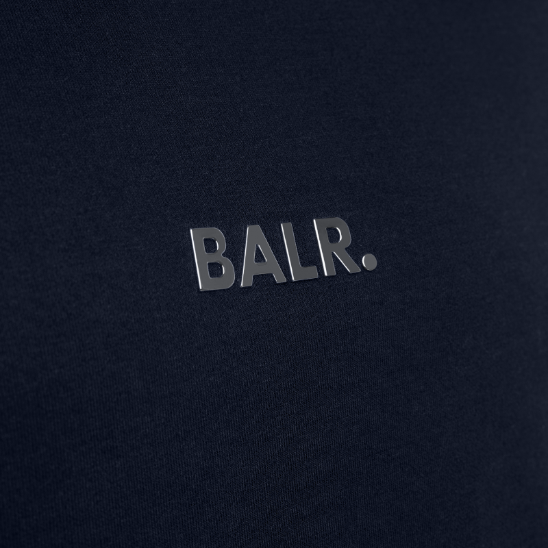 BALR. Q-series Classic Hoodie Navy Blue Detail