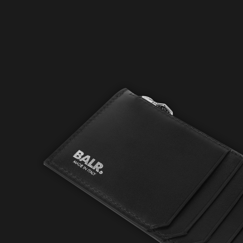 Leather Zipped Cardholder Open