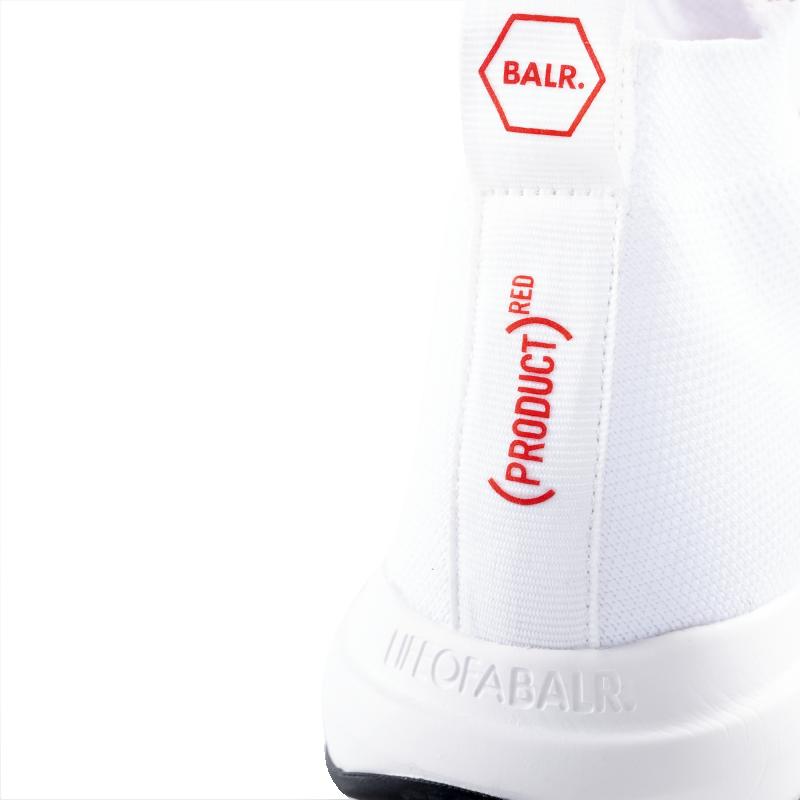 BALR. (BALR.)RED EE Premium Sock Sneakers V2 White Detail 1
