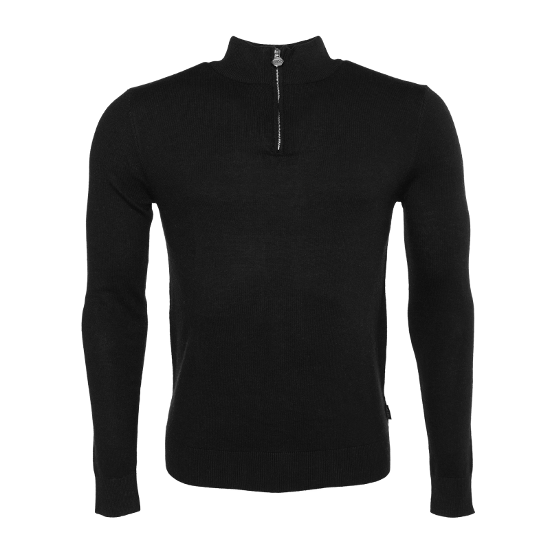 Knitted Half-Zip Sweater Black