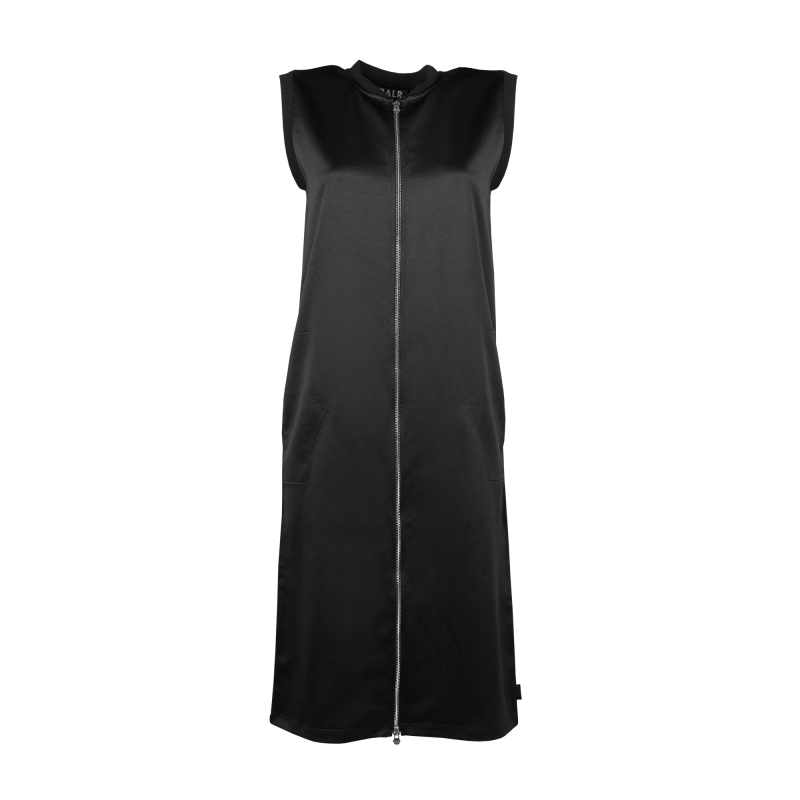 Black Zipped Dress Front