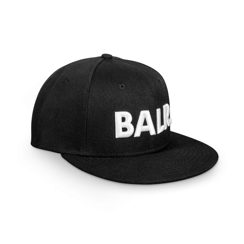 Brand Cotton Cap Black Side