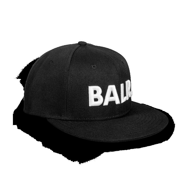 Brand Cotton Cap Black Side