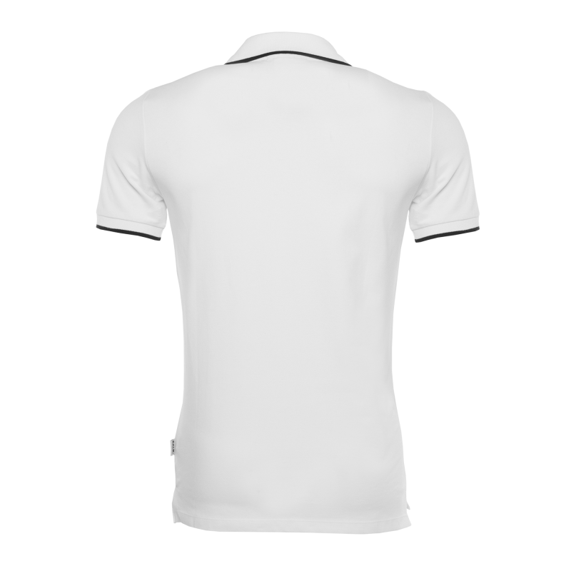 BALR. Brand Metal Logo Polo Shirt White Back