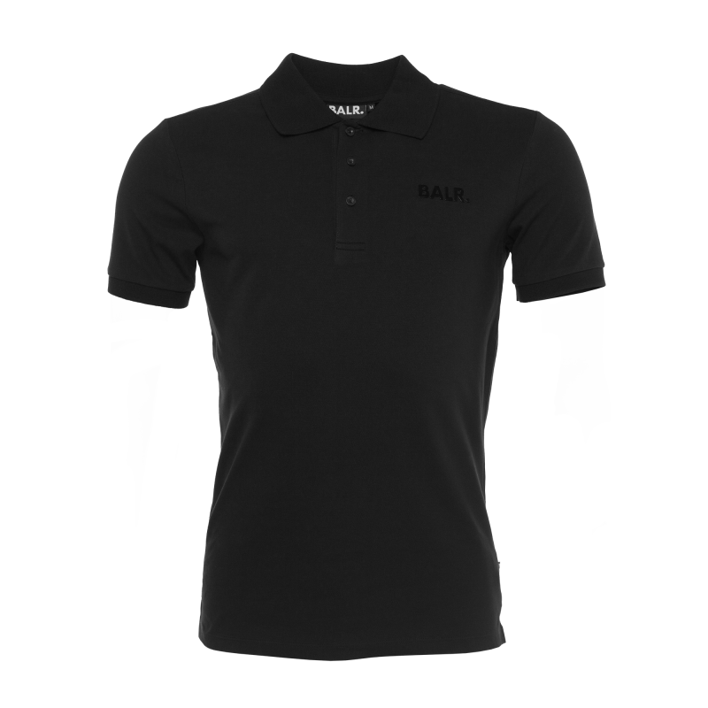 Black Brand Plate Polo Front