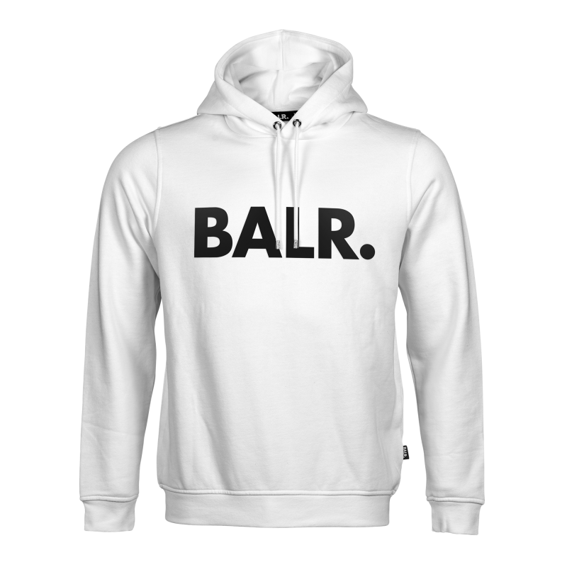BALR. Brand Hoodie White Front