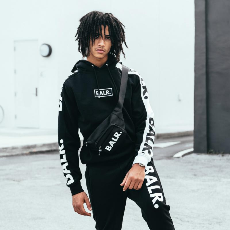 BALR. Contrast Hoodie Black Lifestyle