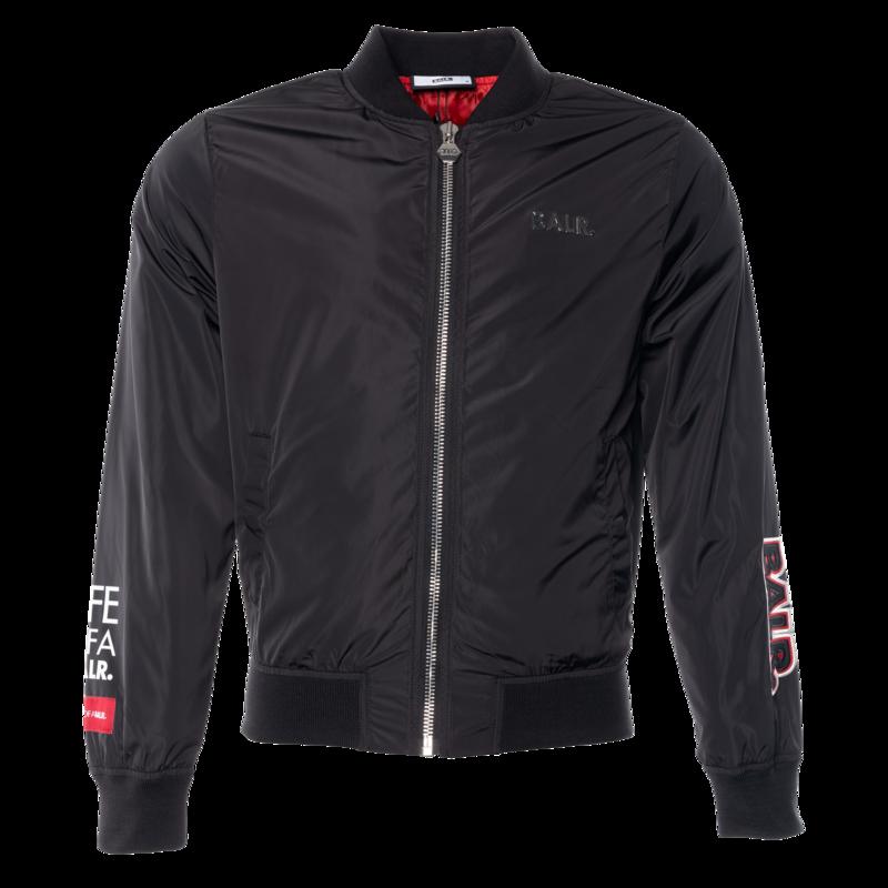 BALR. embroidered bomber jacket Black
