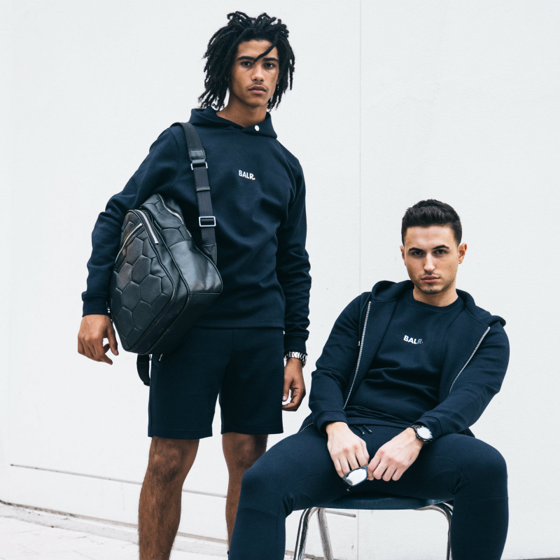 BALR. Q-series Classic Hoodie Navy Blue Lifestyle
