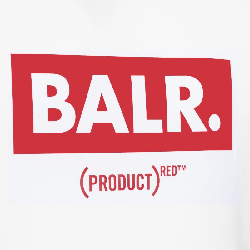 BALR. (BALR.)RED Club T-Shirt White Detail 1