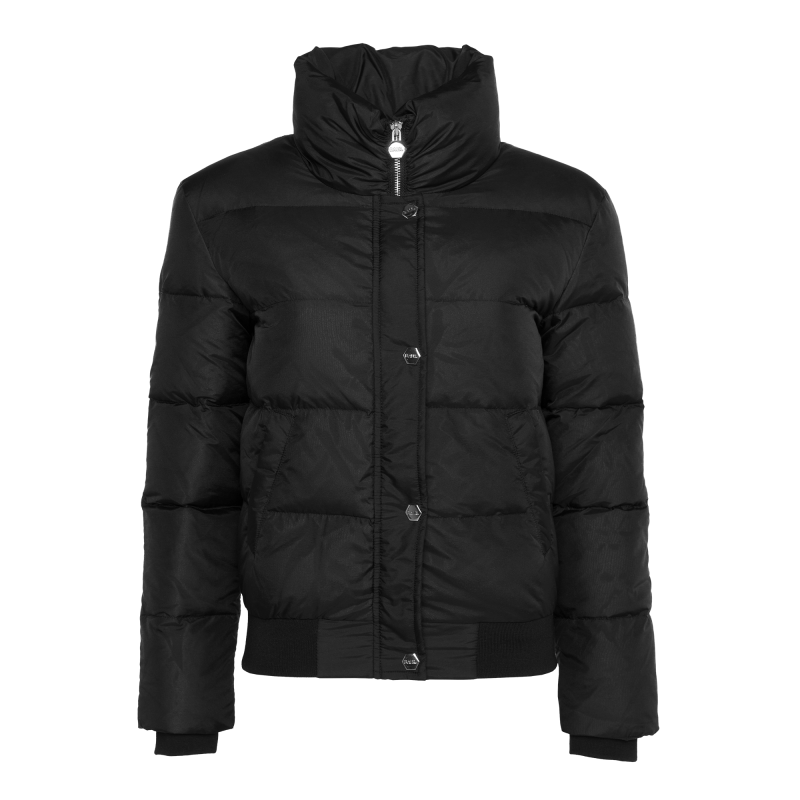 Women Down Bomber Jacket Black