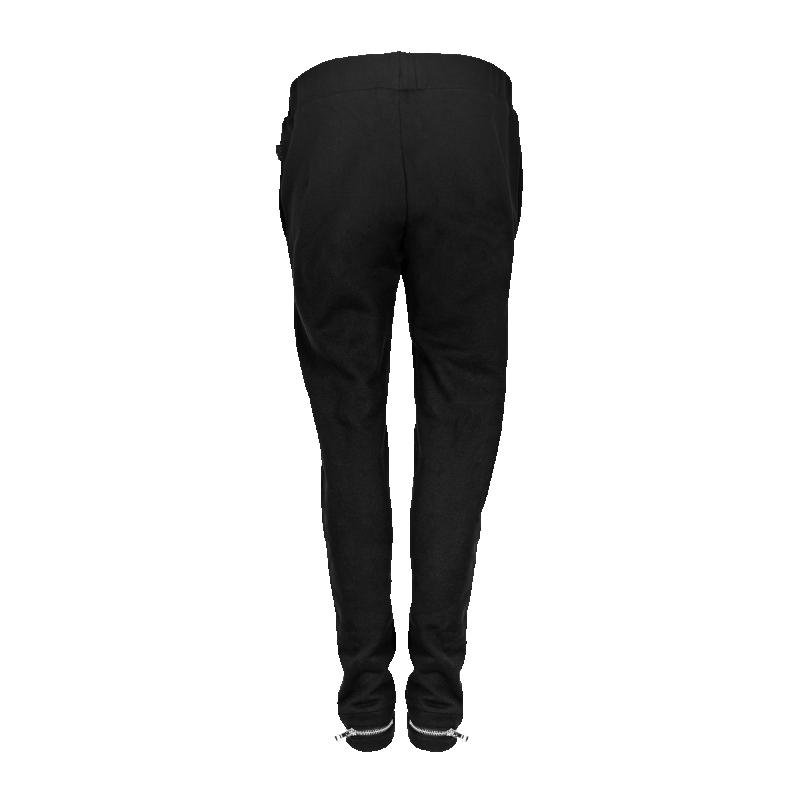 Black Zipped Sweatpants Women Back