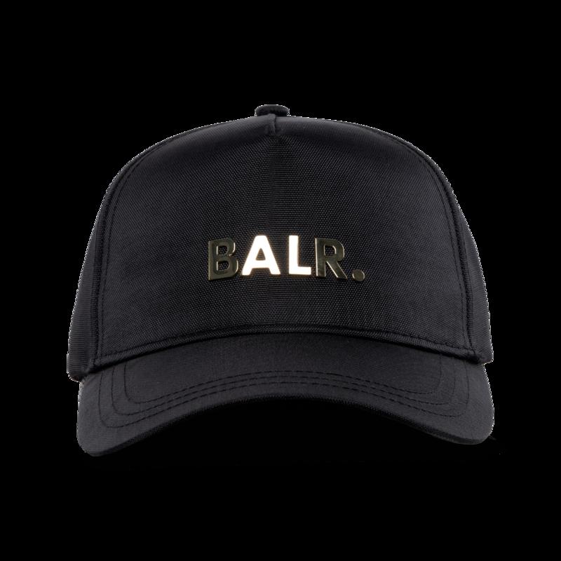 BALR. Brand Gold Metal Logo Cap Black/Gold