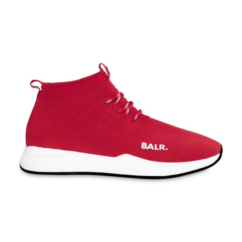 BALR. (BALR.)RED EE Premium Sock Sneakers V2 Red Front