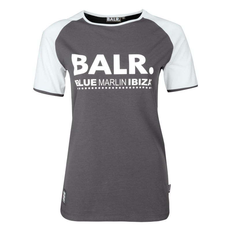 BALR. x BMI Women Raglan Tee Grey
