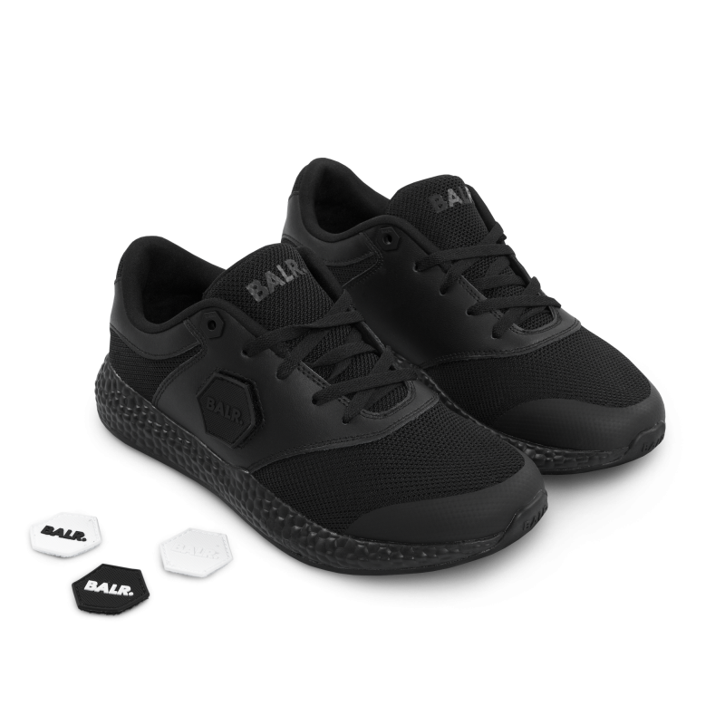 Brand Velcro Sneakers Black