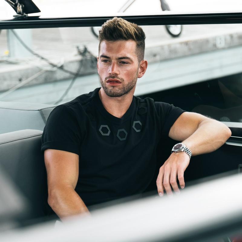 Black Hexagon Shirt Lifestyle