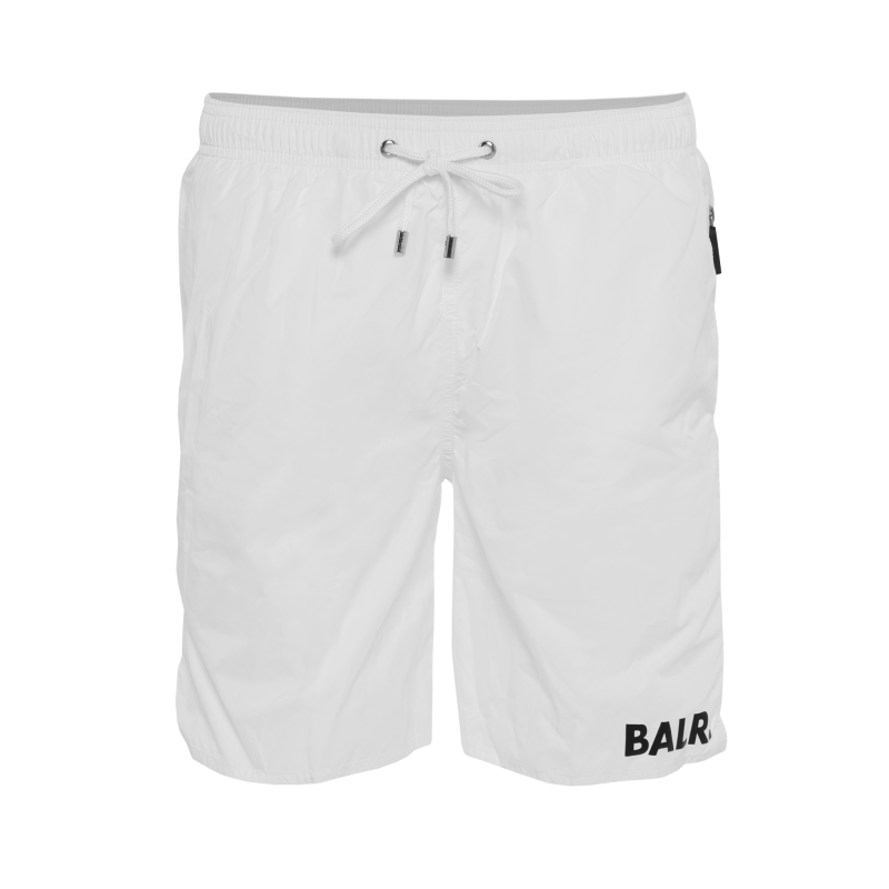 BALR. Mid-Length Swim Shorts White Front