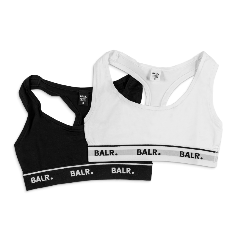 2-Pack Bralette Black & White