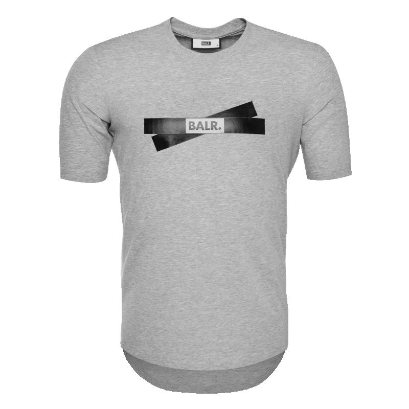 tape logo t-shirt gris | le site officiel balr. découvrez la