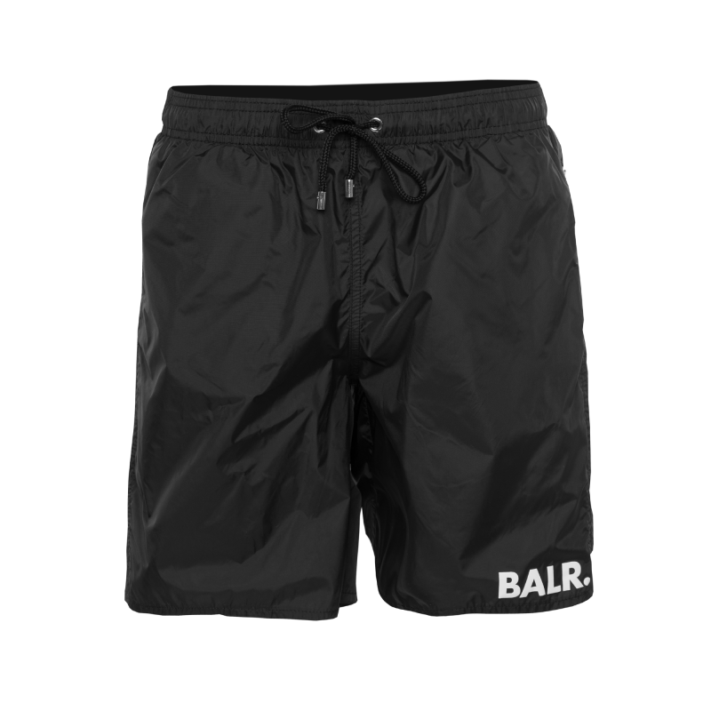 BALR. Mid-Length Swim Shorts Black Front