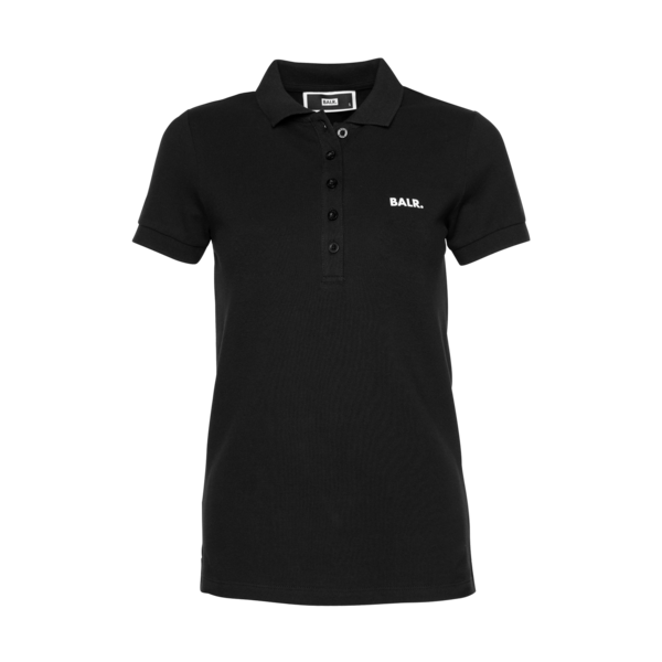 Brand Polo Shirt Women Black Front