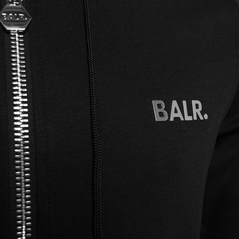 BALR. Q-Series Zipped Hoodie Black Detail