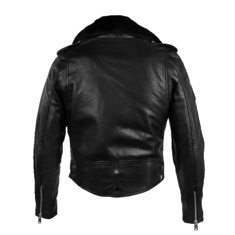 Leather Biker Jacket Back