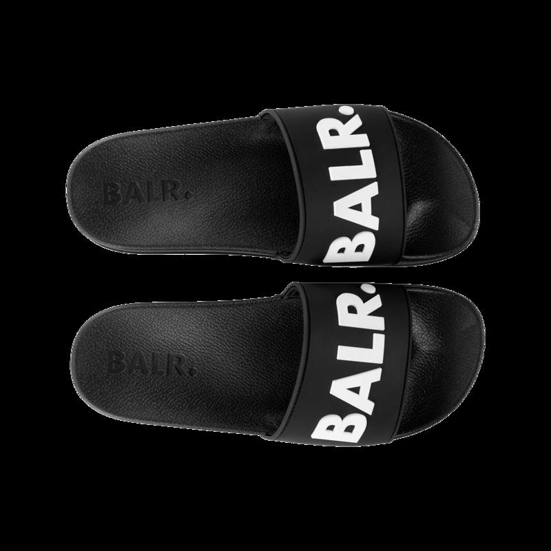 BALR. Slider Zwart Wit