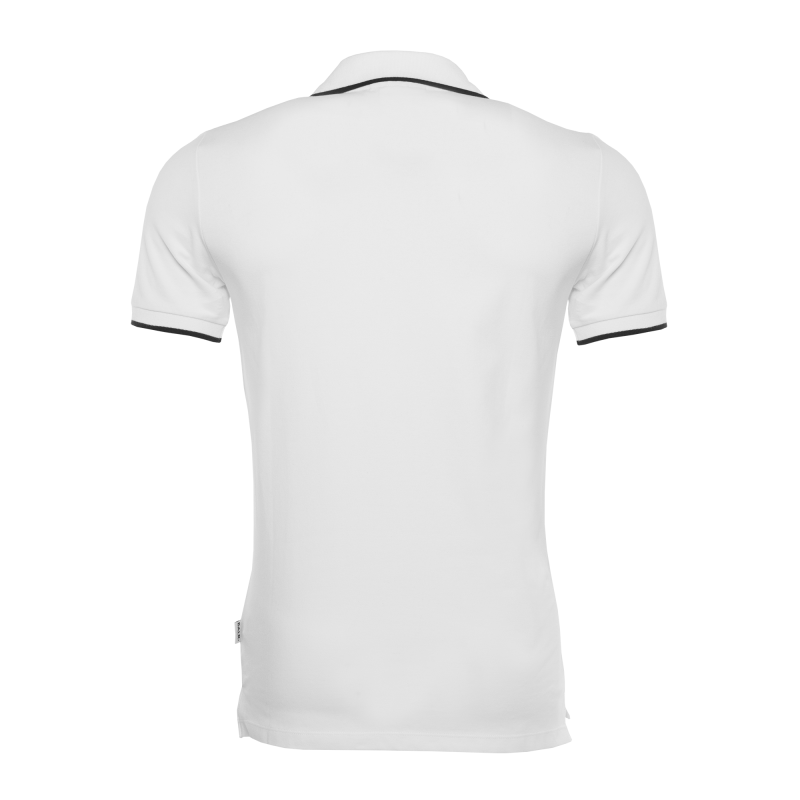 White Badge Polo Back