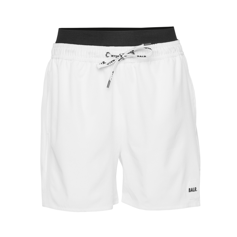 Badge Swim Shorts White