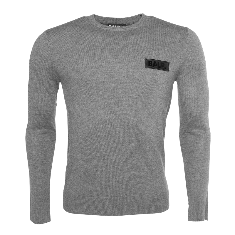 Knitted Crew Neck Sweater Grey
