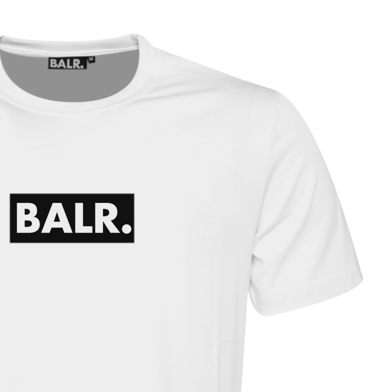 BALR. Black Label - Club T-Shirt White Detail 1