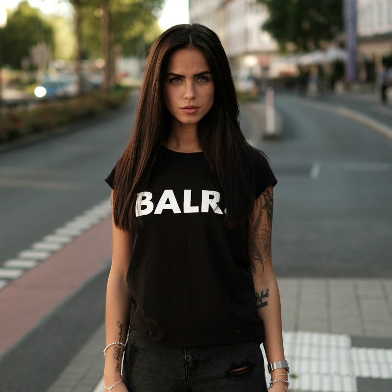 Brand Women Shirt Zwart Lifestyle