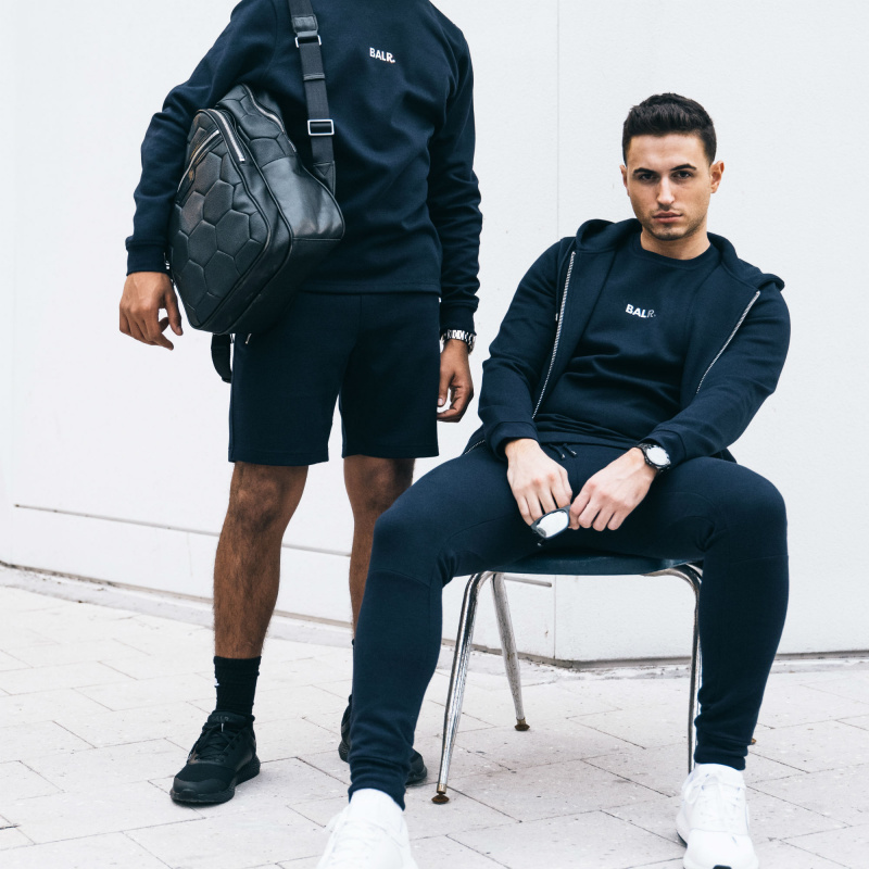 BALR. Q-series Zipped Hoodie Navy Lifestyle