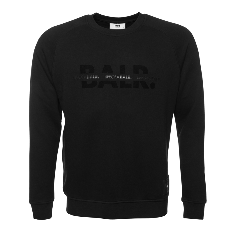 BALR. Censored Brand Crew Neck Sweater Black