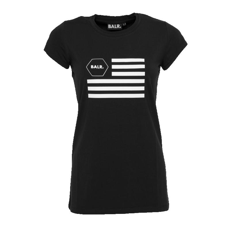 Women USA T-Shirt Black